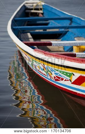 Senegal, africa, boat, pirogue, wooden, colour, color, colorful, colourful, holidays, water, sea, navigation, sailing, fishing, nature, outdoors, traditional, painted, rowing, water, tourisn, travel