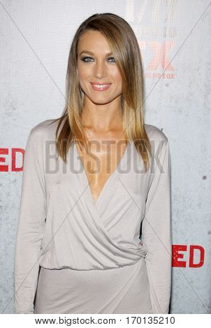 Natalie Zea at the season 3 premiere screening of FX's 'Justified' held at the DGA Theater in Hollywood, USA on January 10, 2012.