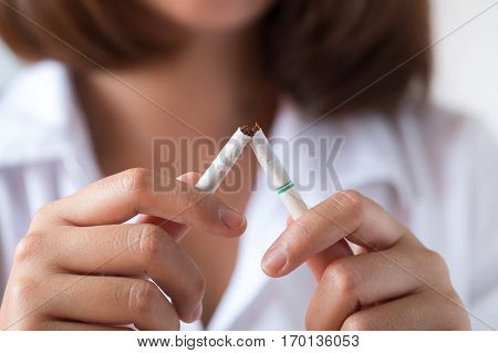 Stop smoking concept for good health concept