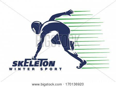 Skeleton sport. Sport emblem
