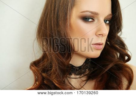 Cute girl with a choker
