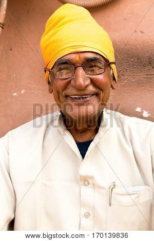 Brahmin senior man in Jaipur, India