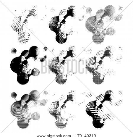 abstract vector background. Black texture combination points