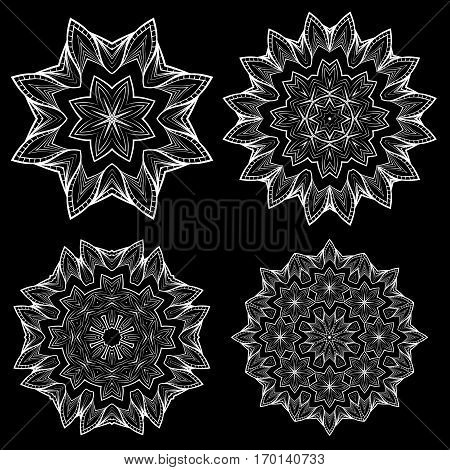 vector hand drawn mandala. Bright illustration. Elements for your design, magazine. Eps10