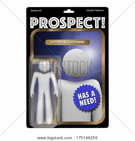 Prospect New Customer Targeting Sales Marketing 3d Illustration
