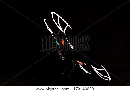Modern Technology Copter Closeup Aircraft Drone