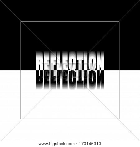 Vector illustration. The word