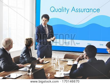 Quality Assurance Guarantee Warranty Trustworthy Concept poster