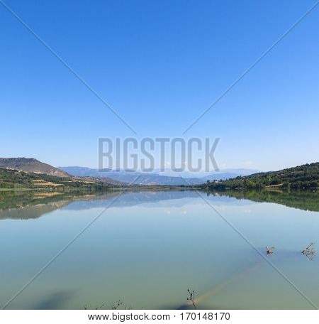 Terradets Reservoir, In Catalonia, Spain