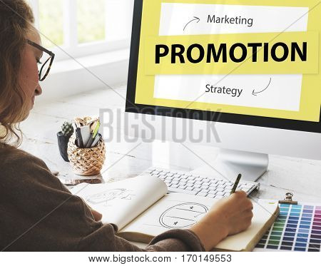 Product Promotion Marketing Strategy Concept