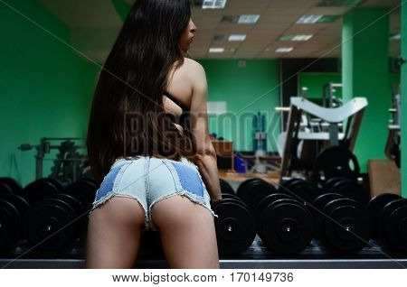 Athletic Girl In A Sport Gym