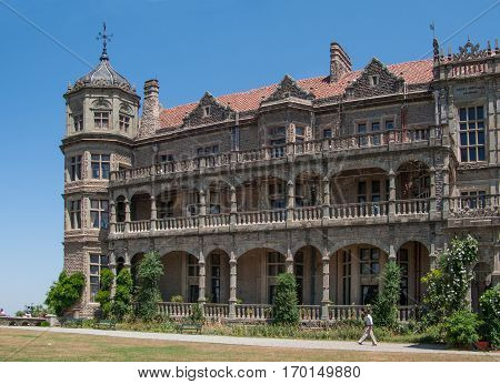 SHIMLA, INDIA. June 8, 2009: Viceregal lodge is located on the Observatory Hills of Shimla. It was formerly the residence of the British Viceroy of India. Shimla, Himachal Pradesh, India
