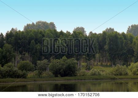 A Small Lake In The Siberian Outback