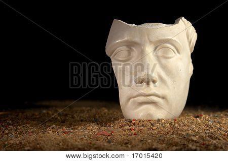Mask on sand