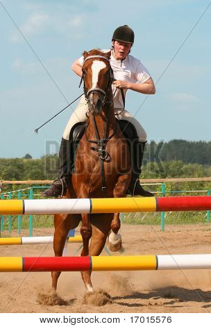 show jumping...