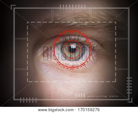iris retina authentication via biometric security scan