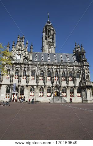Old medieval townhall of Middelburg The Netherlands