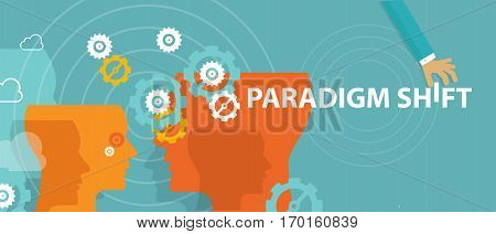 paradigm shift new concept changing rethink idea perception vector