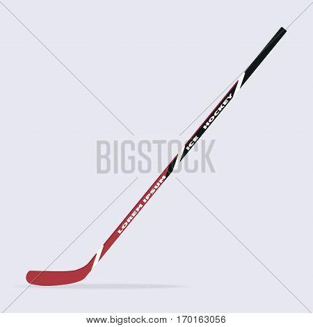 Ice hockey stick isolated on background. Vector illustration