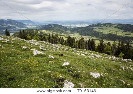 mountain landscape - Dent du Vaulion - Switzerland