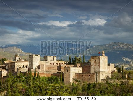 Granada, Spain. Ancient arabic fortress Alhambra
