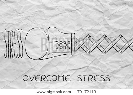 Boxing Glove Hitting The Word Stress