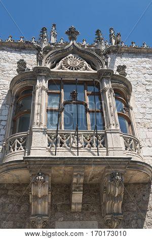 Burgos (Castilla y Leon Spain): facade of historic building