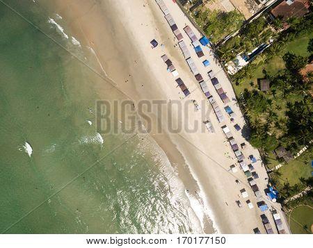 Top View of Praia do Engenho, Sao Sebastiao, Sao Paulo, Brazil