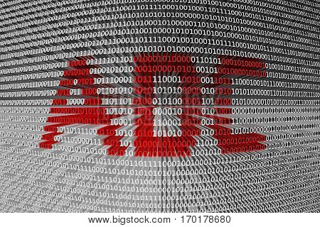 adc is presented in the form of binary code 3d illustration