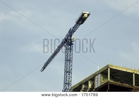 Picture Of A Crane At A Construction Site