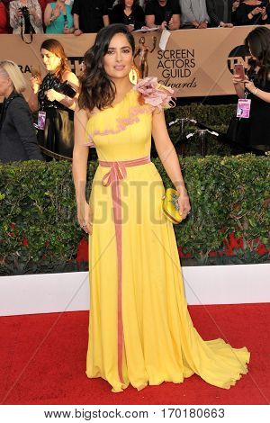 Salma Hayek at the 23rd Annual Screen Actors Guild Awards held at the Shrine Expo Hall in Los Angeles, USA on January 29, 2017.