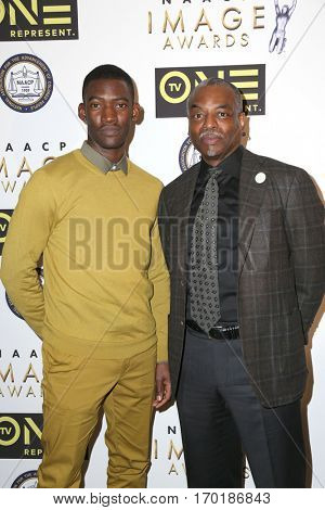 LOS ANGELES - JAN 28:  Malachi Kirby, LaVar Burton at the 48th NAACP Image Awards Nominees' Luncheon at Loews Hollywood Hotel on January 28, 2017 in Los Angeles, CA