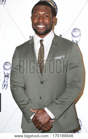 LOS ANGELES - JAN 28:  Trevante Rhodes at the 48th NAACP Image Awards Nominees' Luncheon at Loews Hollywood Hotel on January 28, 2017 in Los Angeles, CA
