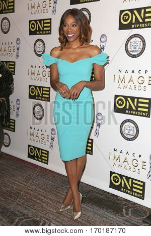 LOS ANGELES - JAN 28:  Yvonne Orji at the 48th NAACP Image Awards Nominees' Luncheon at Loews Hollywood Hotel on January 28, 2017 in Los Angeles, CA
