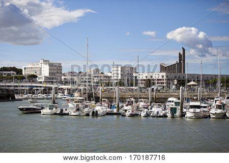 Port of Royan in France region Charentes-Poitou department Charente Maritime