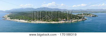 Coast Of Santiago De Cuba With Entrance To The Harbor
