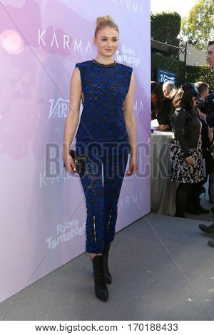 LOS ANGELES - JAN 28:  Sophie Turner at the Variety's Celebratory Brunch Event For Awards Nominees at  Cecconi's on January 28, 2017 in West Hollywood, CA