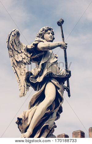 Beautiful Angel on Ponte Sant'Angelo, Rome, Italy