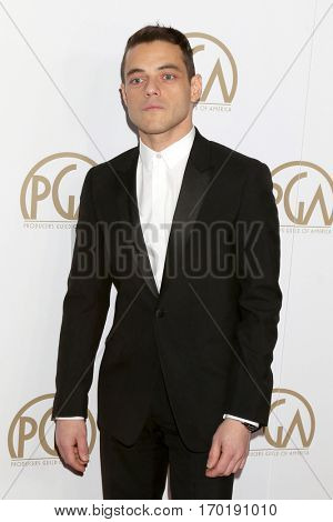LOS ANGELES - JAN 28:  Rami Malek at the 2017 Producers Guild Awards  at Beverly Hilton Hotel on January 28, 2017 in Beverly Hills, CA