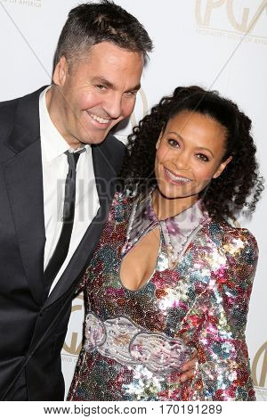 LOS ANGELES - JAN 28:  Ol Parker, Thandie Newton at the 2017 Producers Guild Awards  at Beverly Hilton Hotel on January 28, 2017 in Beverly Hills, CA