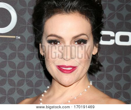 LOS ANGELES - JAN 27:  Alyssa Milano at the NHL 100 Gala at Microsoft Theater on January 27, 2017 in Los Angeles, CA
