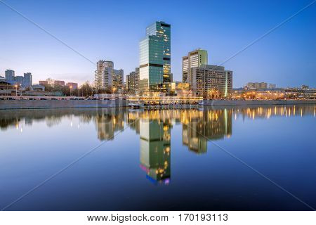 Reflection of International Trade Center in Moscow
