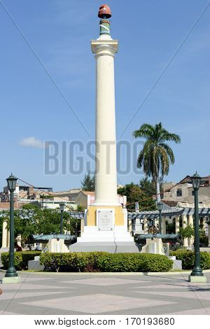 Jose Marti Monument On Marte Square At Santiago De Cuba