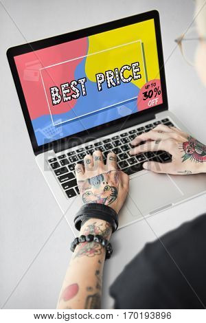 Online shopping promotion sale interface
