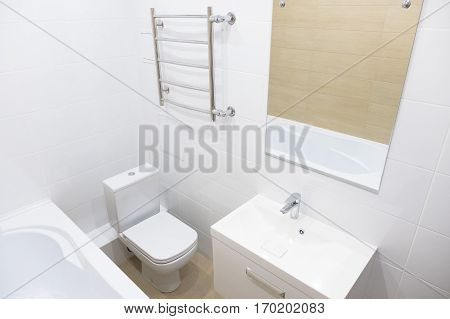 Bathroom In A New Apartment Home