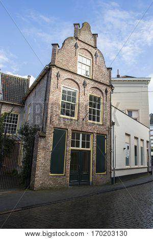 Old medieval Dutch gable house 's-Hertogenbosch or Den Bosch the Netherlands