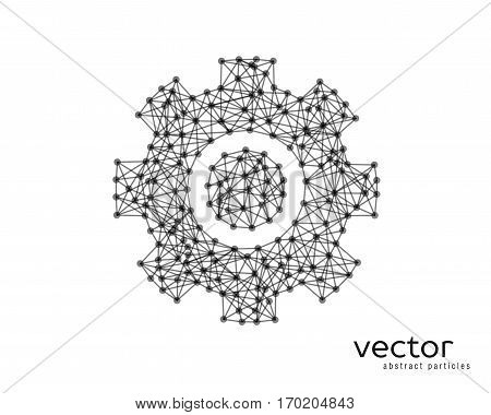 Abstract Vector Illustration Of Gear Sign.