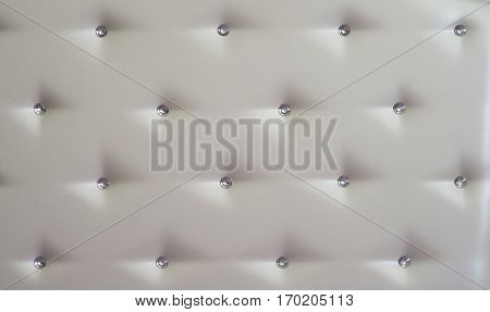 White diamond studded luxury upholstery leather seamless background