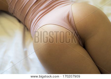 Beautiful Girl. Beautiful Girl Ass On The Bed.