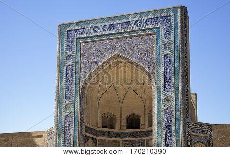 Portal of Kalyan Mosque in Bukhara, Uzbekistan
